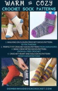 Warm and Cozy Crochet Sock Patterns Free Pattern Roundup Oombawka Design Crochet