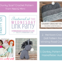 Wednesday Link Party 321 Features 3 Free Crochet Patterns FB