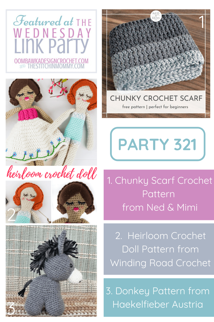 Wednesday Link Party 321 Features 3 Free Crochet Patterns!
