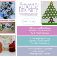 Wednesday Link Party 322 Featured Favorites Include a Christmas Ornament, Thanksgiving Gnome and Advent Calendar