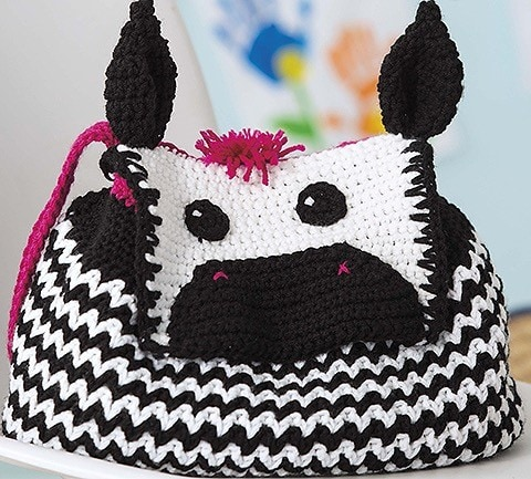 ZEBRA Animal Backpacks from Leisure Arts Book Review by Oombawka Design Crochet