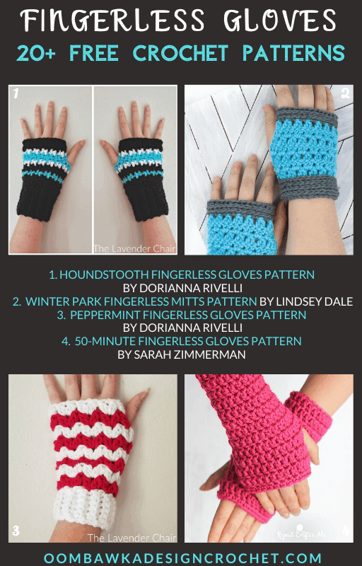 20 Free Crochet Fingerless Gloves Patterns - Free Pattern Roundup Oombawka Design Crochet