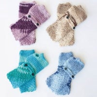 Cozy Posy Fingerless Gloves Pattern