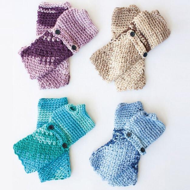 Cozy Posy Fingerless Gloves Pattern