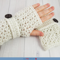 Crochet Star Stitch Fingerless Gloves Pattern