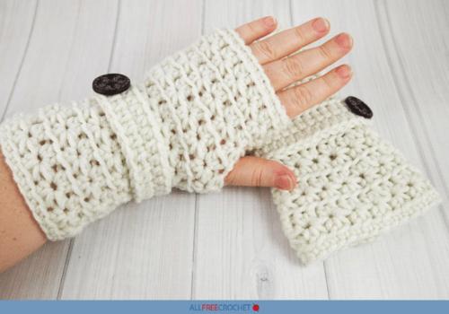Crochet Star Stitch Fingerless Gloves Pattern