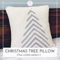 Featured at Wednesday LInk Party 326 Christmas Tree Pillow