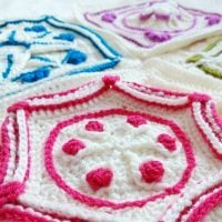 Featured at Wednesday Link Party 328 Winter Jewels Blanket Crochet Along