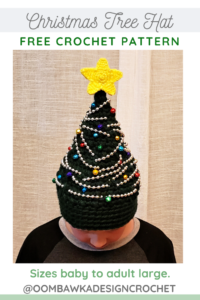 Free Crochet Christmas Tree Hat Pattern from Rhondda at Oombawka Design Crochet