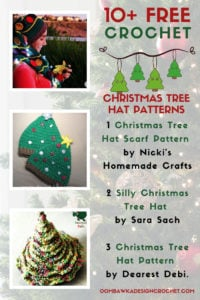 Free Crochet Christmas Tree Hat Patterns