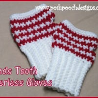 Hounds Tooth Fingerless Gloves Pattern