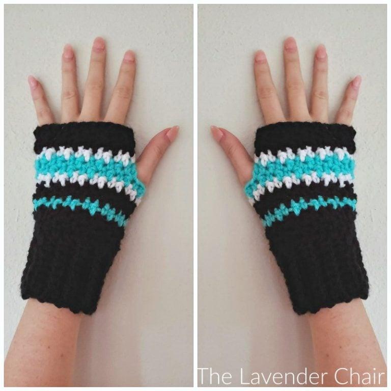 Houndstooth Fingerless Gloves Pattern