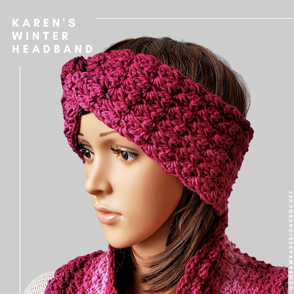 Karen's Winter Headband Free Crochet Pattern
