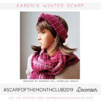 Karen's Winter Scarf Free Crochet Pattern Oombawka Design December 2019