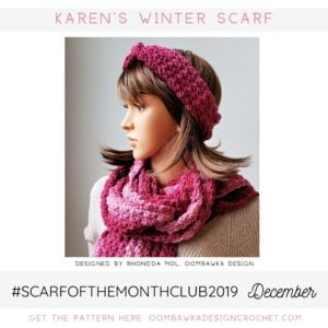 Karen's Winter Scarf Free Crochet Pattern Oombawka Design December 2019