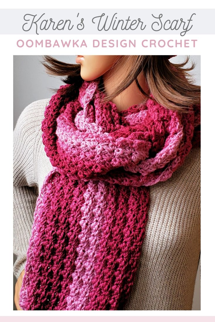 Karen's Winter Scarf Free Crochet Pattern – December Scarf of the Month Club