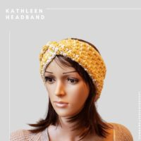 Kathleen Headband Houndstooth with a Twist Earwarmer