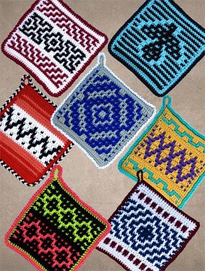 More Native American Potholder Crochet Patterns by Carol Hegar. eBook Review.