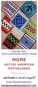 More Native American Potholders Crochet Patterns eBook Review and Giveaway at Oombawka Design Crochet