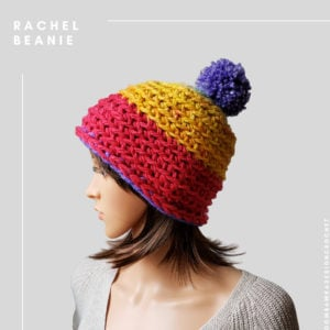 Rachel Beanie with PomPom Pattern