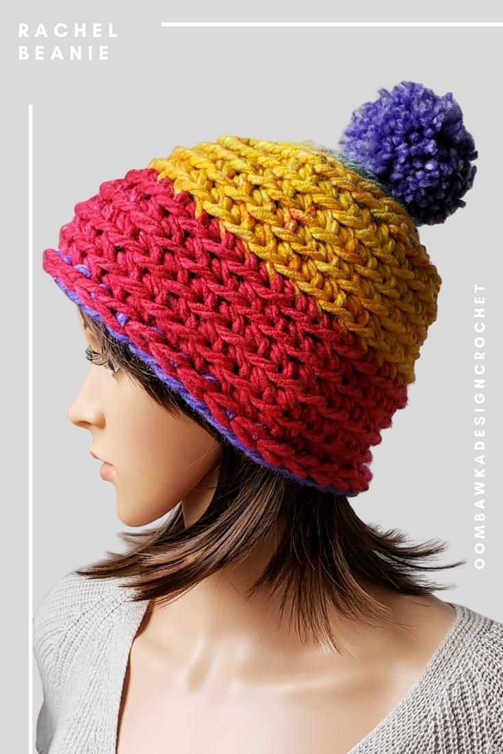 Quick Winter Beanie Crochet Pattern.