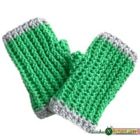 Ribbed Fingerless Mitts Pattern