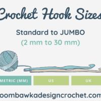 2020 Crochet Hook Sizes US UK Metric