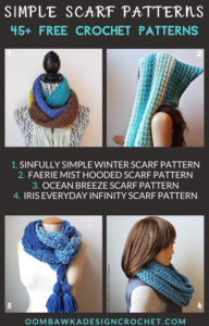 45 Free Simple Scarf Crochet Patterns