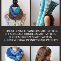 45 Free Simple Scarf Crochet Patterns