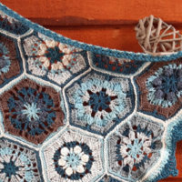 Blues Melody Baby Blanket from Creative Crochet Workshop Featured at Wednesday Link Party 329