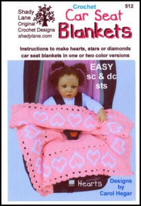 Car Seat Baby Blanket Crochet Patterns from Shady Lane Original Crochet Designs