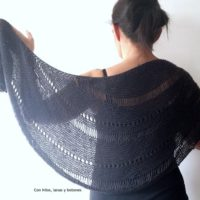 Featured at Wednesday Link Party 332 Storm Shawl