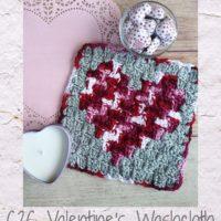 Featured on Wednesday Link Party 332 Corner to Corner Valentine's Washcloth Free Pattern