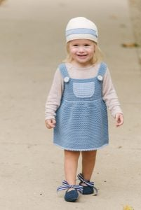 Frosted Bluebell Cloche Hat and Overall Dress