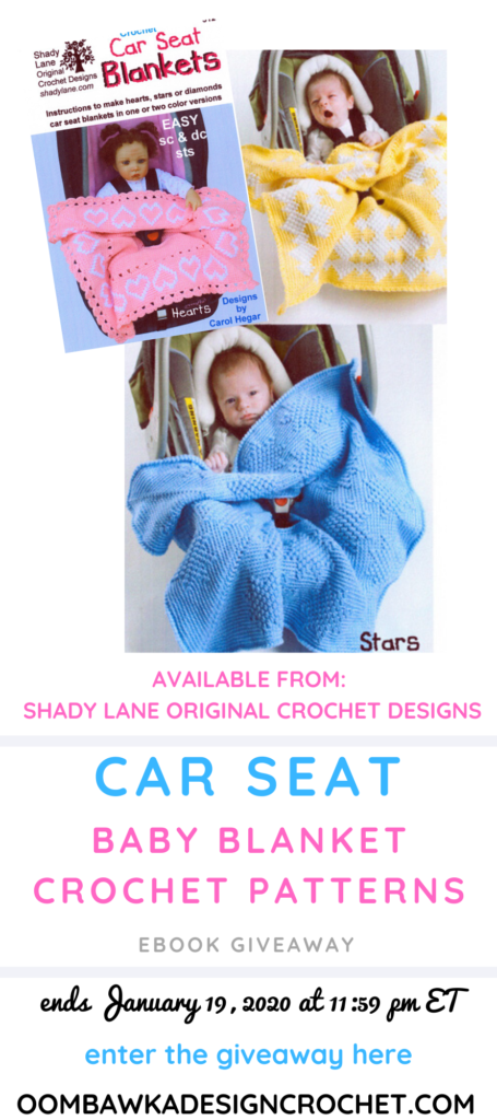 Giveaway Car Seat Baby Blanket Patterns from ShadyLaneOriginal ends January 19 2020