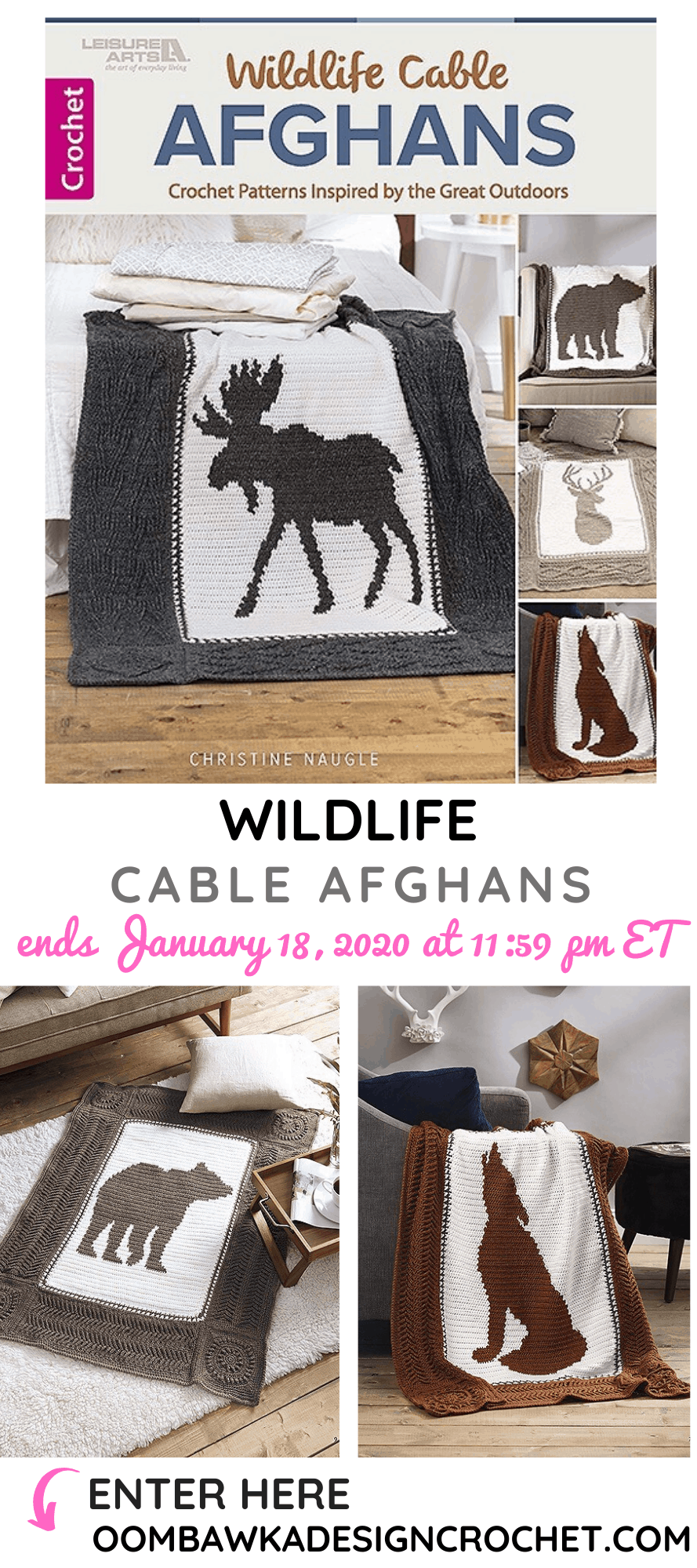 4 Wildlife Cable Afghan Patterns