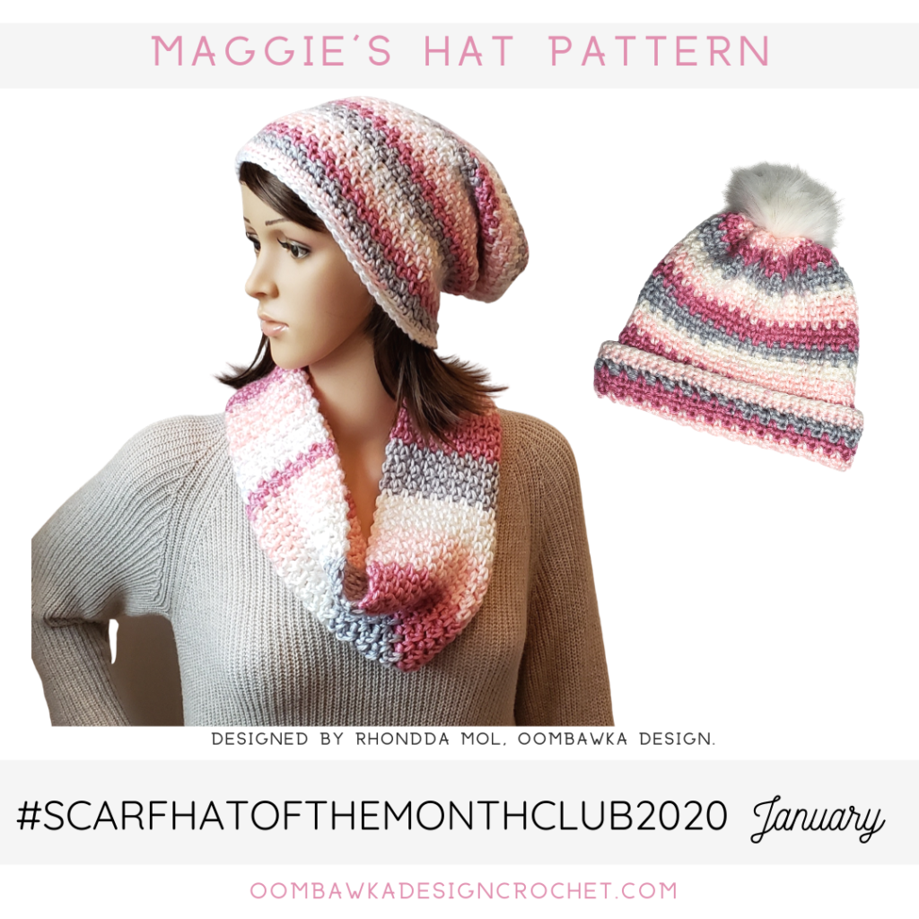 January Hat of the Month Club Pattern - Maggie's Hat