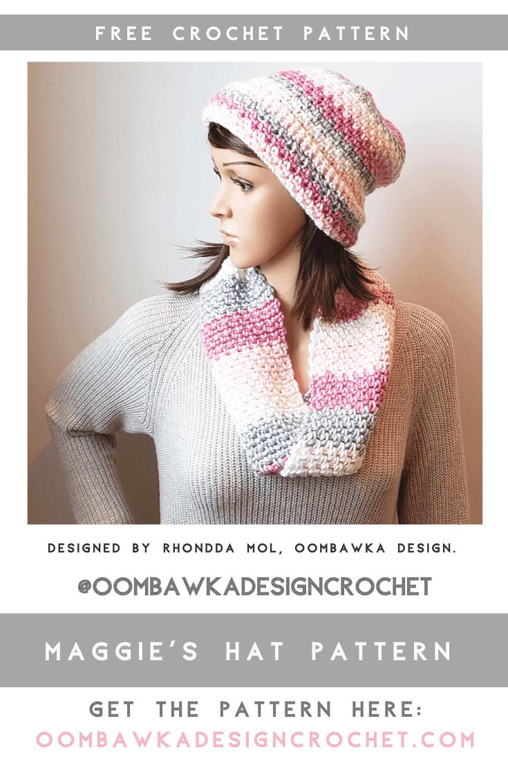 Maggie's Hat Pattern. Free Crochet Hat Pattern.