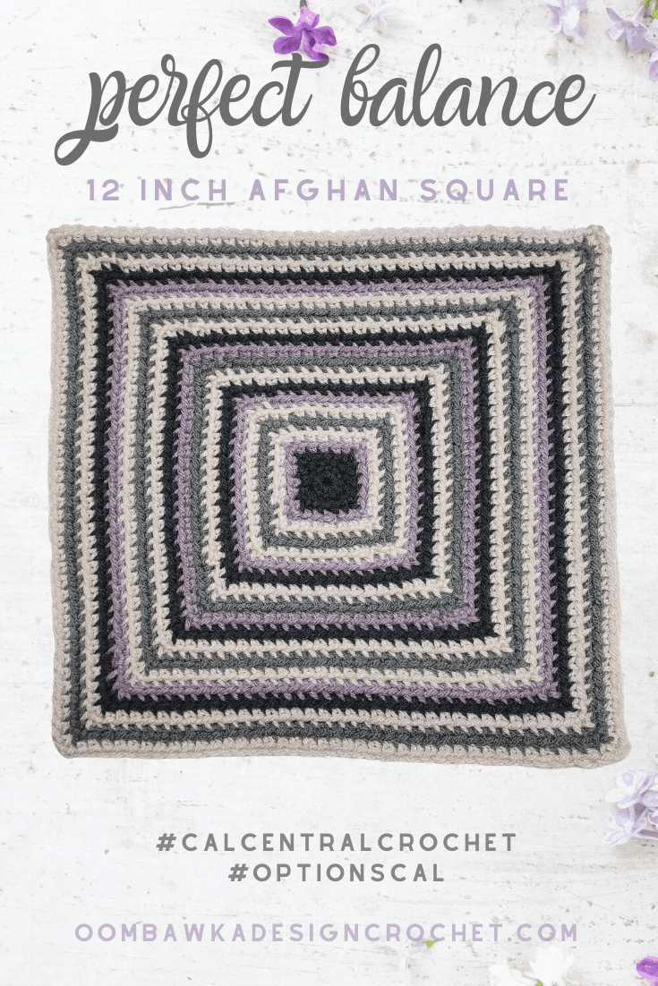 Perfect Balance Afghan Square Free Pattern