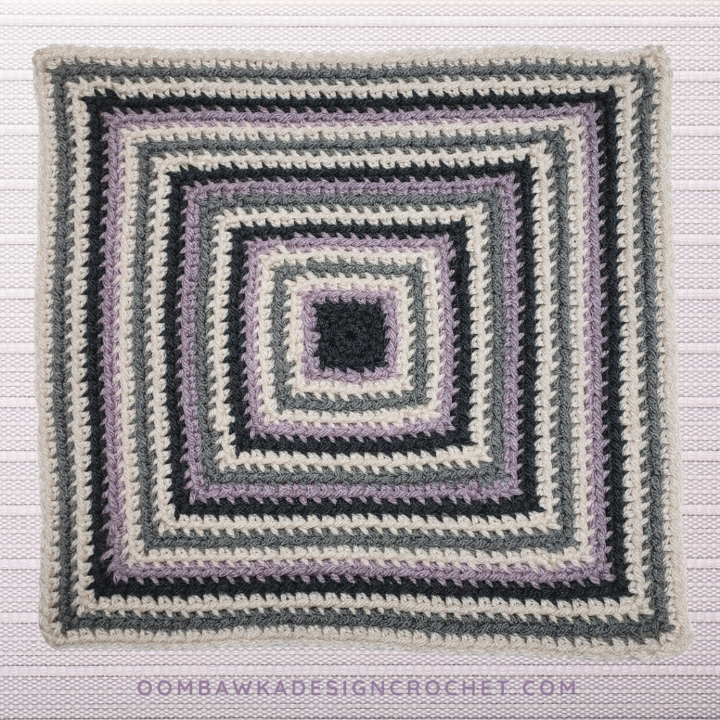 Perfect Balance Square Oombawka Design Crochet 2020 cal