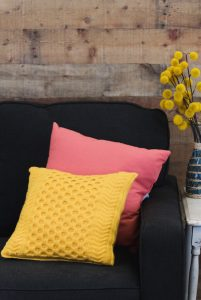 The Pineapple Tunisian Pillow