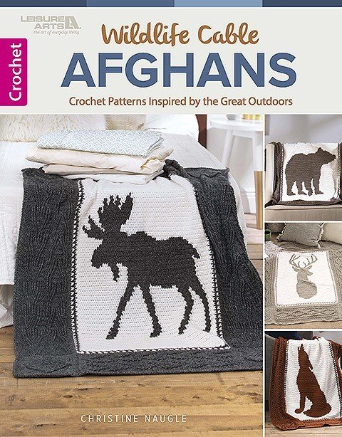 Wildlife Cable Afghans from Leisure Arts Book Review