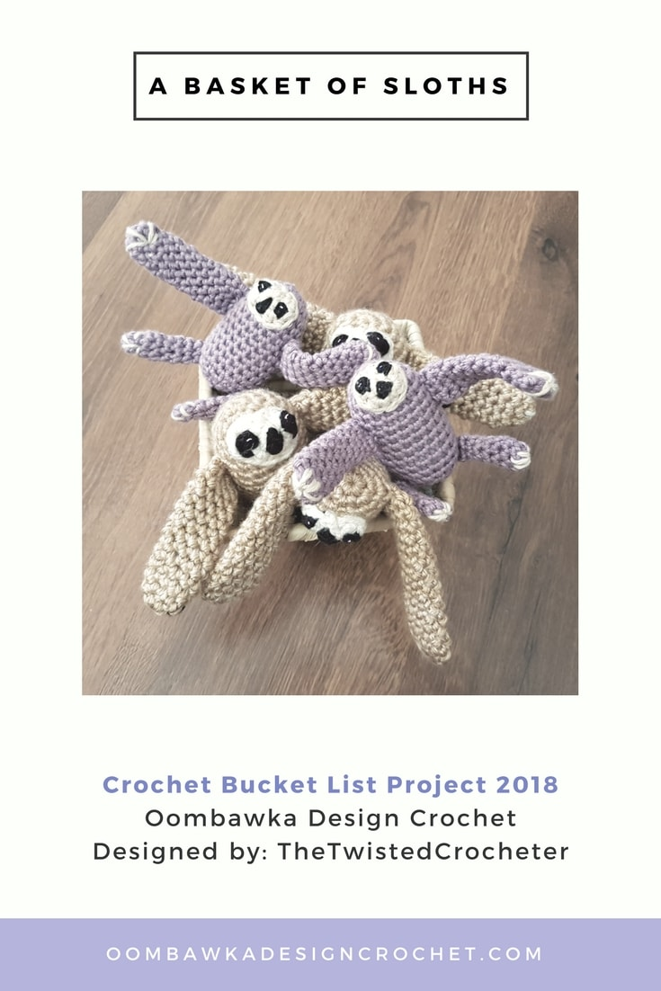 Basket of Baby Sloths Crocheted by Oombawka Design Crochet 2018