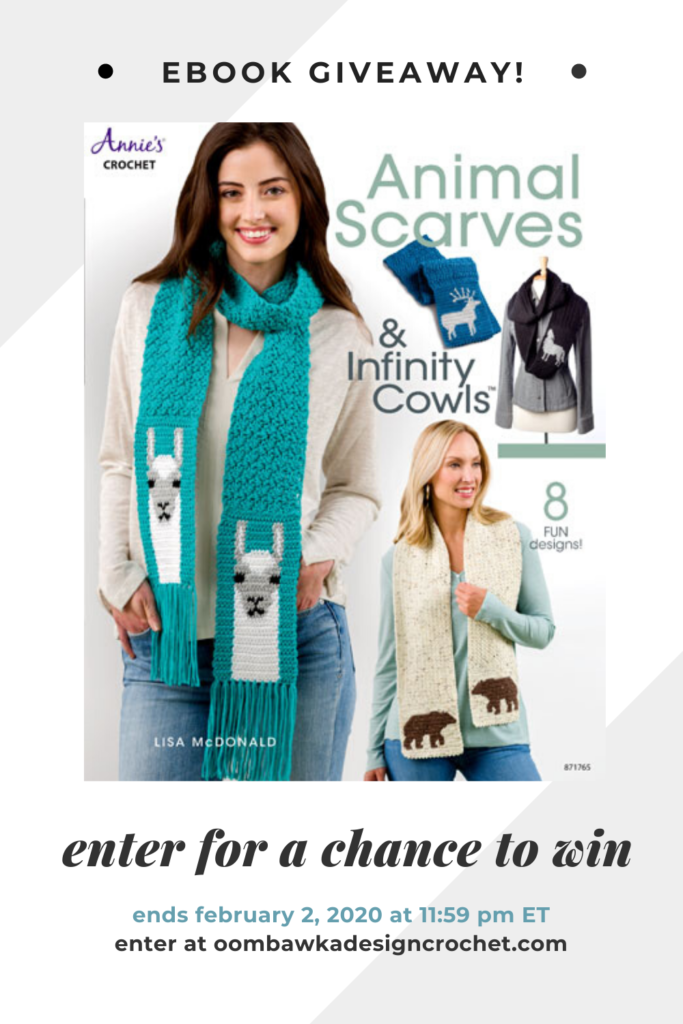 ebook giveaway animal scarves & infinity cowls from annie's craft store ends feb 2 2020 1159 pm et