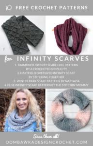 10-Free-Infinity-Scarf-Patterns-Crochet-Roundup-Oombawka-Design