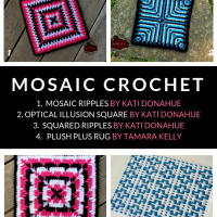 12 + Free Crochet Patterns for Mosaic Granny Squares and Interlocking Crochet