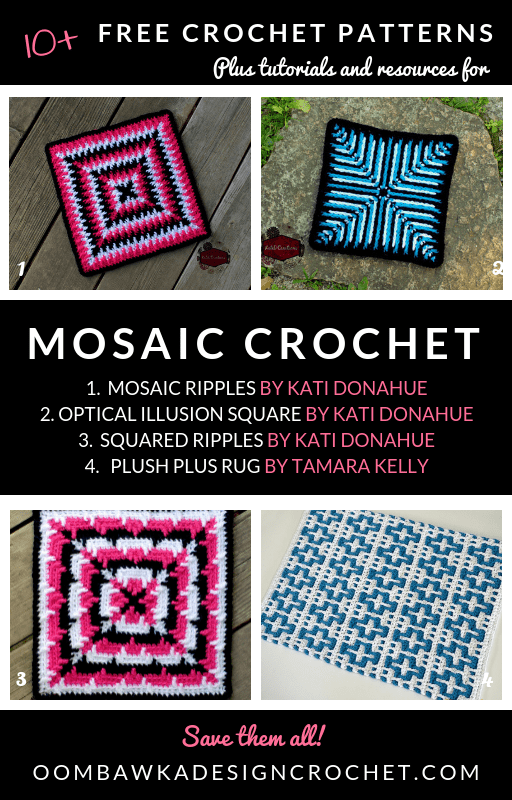 Mosaic Granny Squares And Mosaic Crochet Stitch Patterns Oombawka