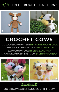 15 Free Crochet Cow Patterns Oombawka Design Crochet Roundup