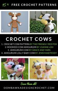 15 Free Crochet Cow Patterns Oombawka Design Crochet Roundup