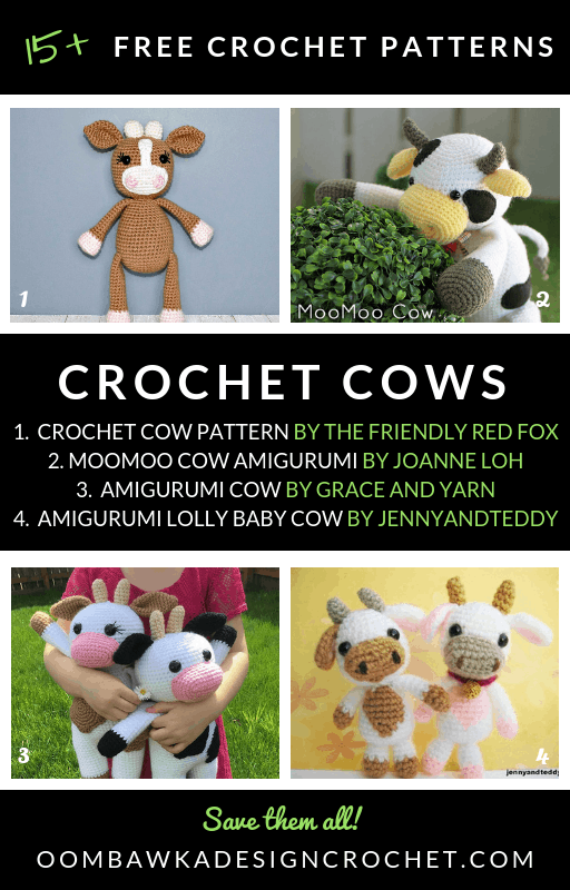 Crochet Amigurumi Cow- Free Crochet Cow Pattern - YouTube | 800x512